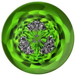 Irländskt Smaragd-&-Diamanten porslin pläterar