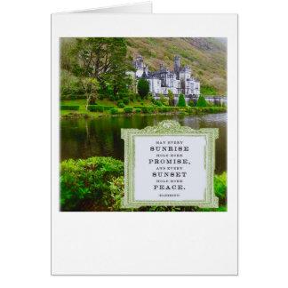 Irländskt välsigna Kilmore Abbeyfoto Hälsningskort