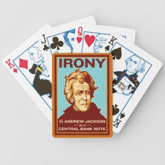 Ironi är Andrew Jackson som leker kort Spelkort
