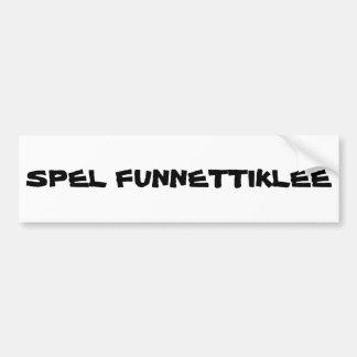 Ironiskt stava av Phonetic Bildekal
