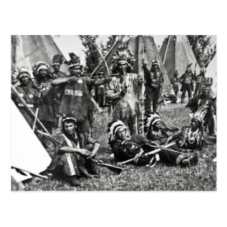 Iroquoislägerplats i Quebec Vykort