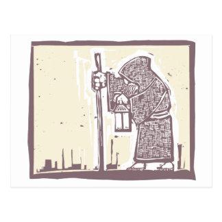 Irrande munk vykort