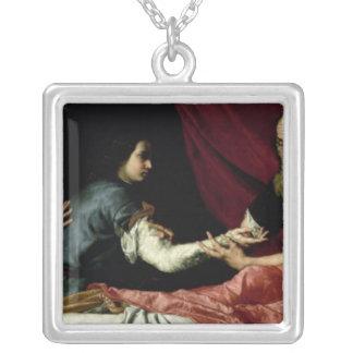 Isaac som välsignar Jacob, 1637 Silverpläterat Halsband