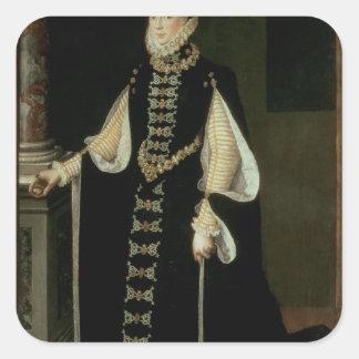 Isabella av Valois, drottning av Spanien Fyrkantigt Klistermärke