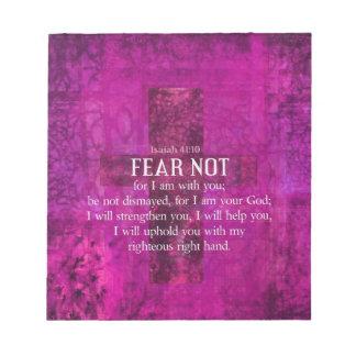 Isaiah 41:10skräck inte, för I-förmiddag med dig Anteckningsblock