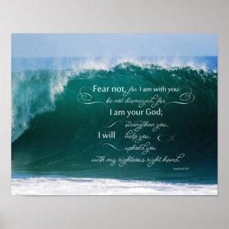 Isaiah 41 Verseaffisch för 10 bibel Poster