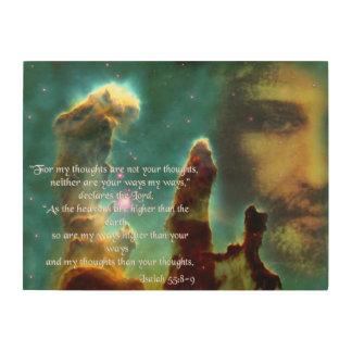 ISAIAH 55, 8-9 TRÄTAVLA