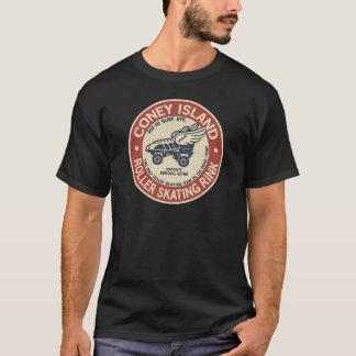 Isbana för satsning för rulle för vintageConeyö T-shirt