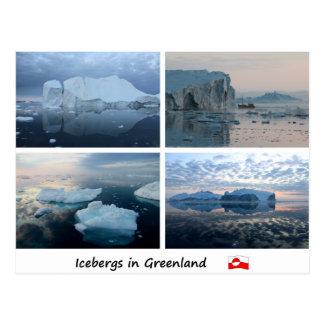 Isberg i Grönland Vykort