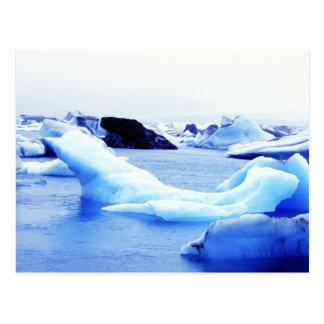 Isberg på den Jokulsarlon lagunen Vykort