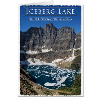 Isberg sjö i glaciärnationalparken Montana Hälsningskort