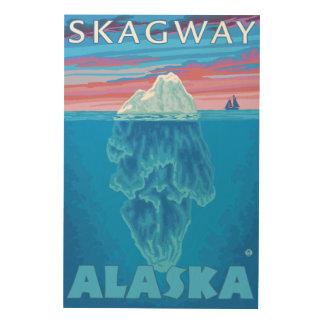 Isbergtvärsnitt - Skagway, Alaska Trätavla