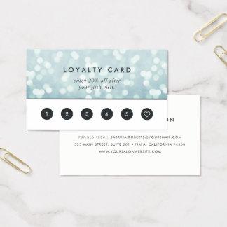 IsblåttBokeh | lojalitet Visitkort