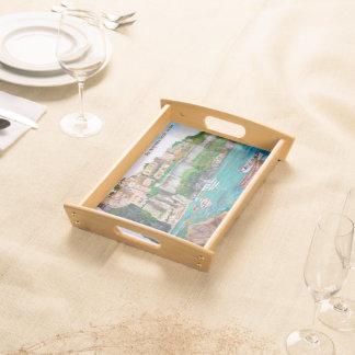 Ischia italien - litet portionmagasin serveringsbricka