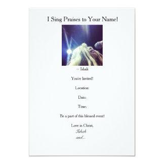 Ishahs jag sjunger berömmar till dina kända 12,7 x 17,8 cm inbjudningskort