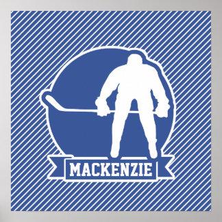 Ishockey-, blått- & vitrandar, sportar