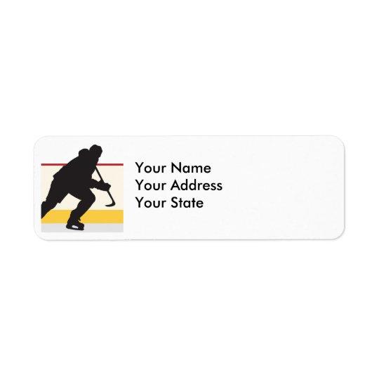 ishockeyspelare på flyttningen returadress etikett