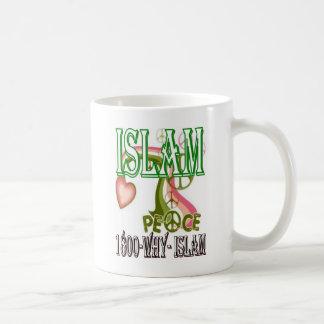 Islam är fred & kärlek & lyckan kaffemugg