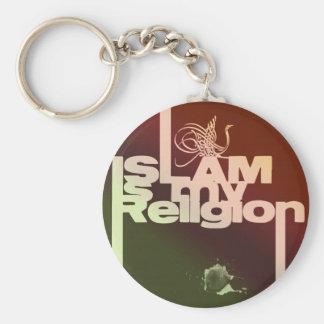 Islam är min religion - islamiskt arabiskatryck rund nyckelring