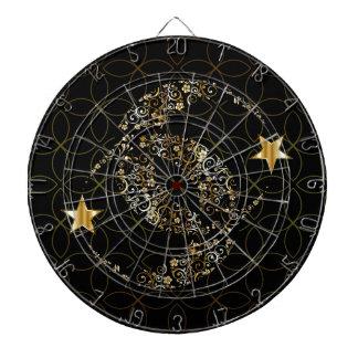 Islamisk blom- måne och stjärna piltavla