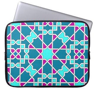 Islamisk geometrisk mönsterrickshawsleeve laptop fodral