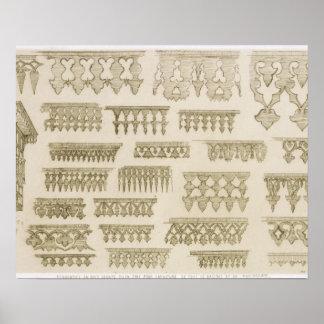 Islamiska designer för cornice, balkong och mashra poster