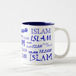 IslamMång--stilsort mugg (blått)