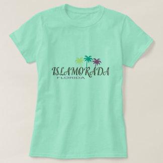 Islamorada Florida med palmträd Tee Shirt
