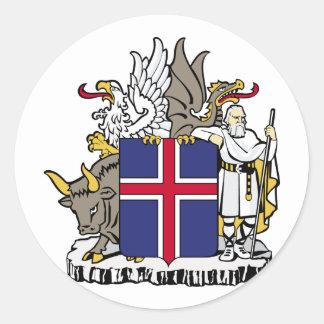 Island island runt klistermärke