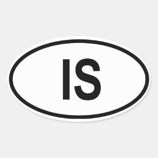 """Islandet """"ÄR """", Ovalt Klistermärke"""