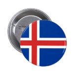 Islandflagga Knappar