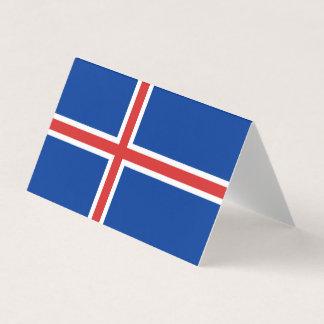 Islandflagga Visitkort