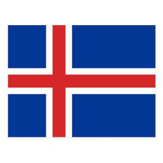 Islandflagga Vykort