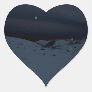 Isländsk glaciär hjärtformat klistermärke
