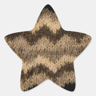 Isländskt ullmönster stjärnformat klistermärke