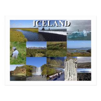 Islandsommaren landskap vykort