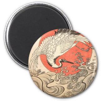 Isoda Koryusai - vinkar och resningsol för kran, Magnet
