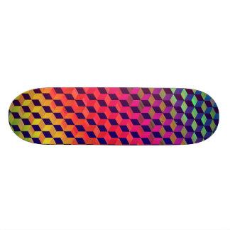 Isometriskt kubmönster för mång- färg old school skateboard bräda 21,6 cm