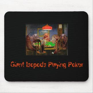 Isopods.Playing.Poker jätte- Isopods som leker pok Musmatta