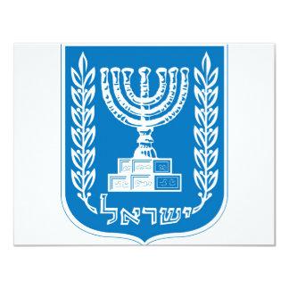 israel_armoirieslag av armen 10,8 x 14 cm inbjudningskort