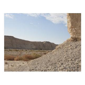 Israel det döda havet, öken landskap vykort