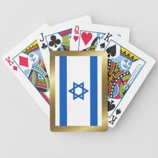Israel flagga som leker kort spelkort
