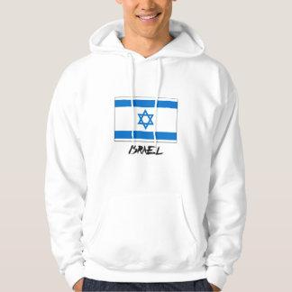 Israel flagga sweatshirt med luva