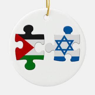 Israel och prydnad för pussel för Palestina Julgransprydnad Keramik
