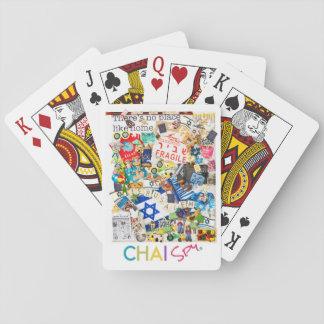 Israel som leker kort spelkort