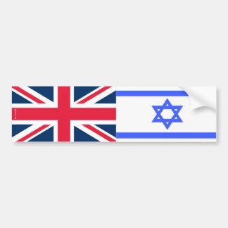 Israel & United Kingdom flaggorbildekal Bildekal