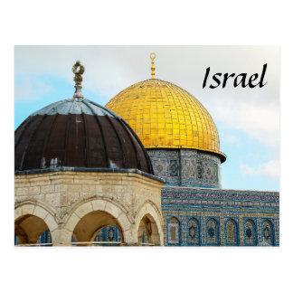 Israel vykort med fotoet av kupolen av stenen