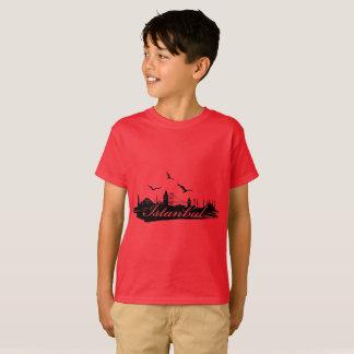 Istanbul Bosphorus överbryggar röd T-tröjaför barn T Shirts