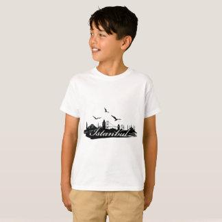 Istanbul Bosphorus överbryggar vitT-tröjaför barn T-shirt