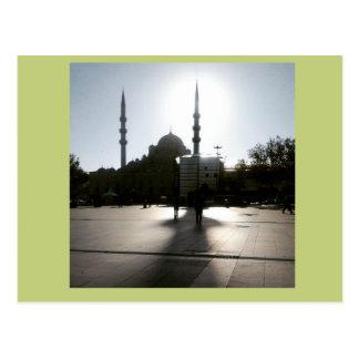 Istanbul minne, sol och moské vykort
